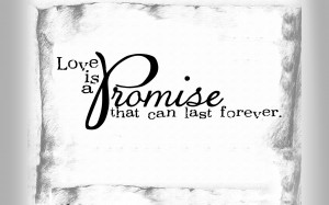Love Promise Love is a promise that can
