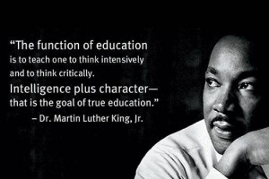 True Quote On Education from MLK