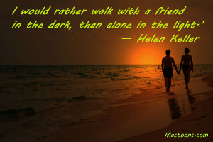 ... Friends – Inspirational Friendship Quotes: Love Couple At Sunset