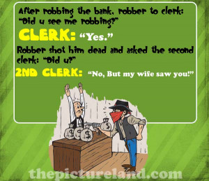 Cartoon Picture Jokes About Bank Robbery