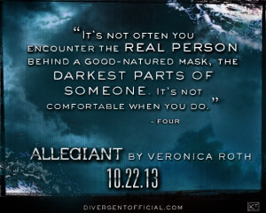 quote was previously written as being from Tris, however Veronica Roth ...