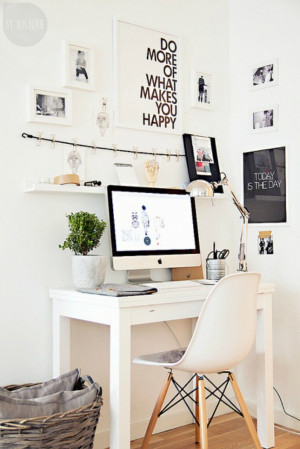 ... your space with inspirational quotes . (via A Merry Mishap