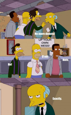 ... , Lenny, & Homer Get Cut Off From Donuts By Mr. Burns On The Simpsons