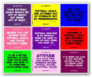 ... softball poster details 9 quotes in 1 softball motivational poster