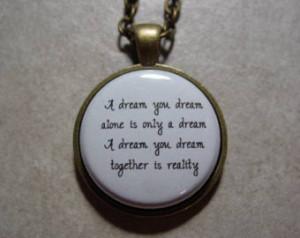 John Lennon citation A Dream que vo us rêvez seul est seulement un ...