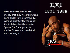 Tupac quote on churches