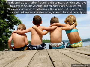 True friend quotes – Friends can help each other