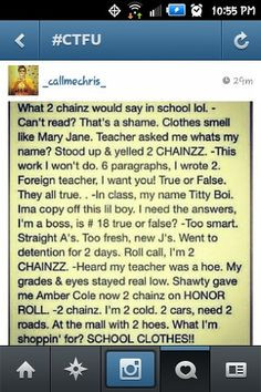 It's not a quote but I found it funny!!! #2Chainz More