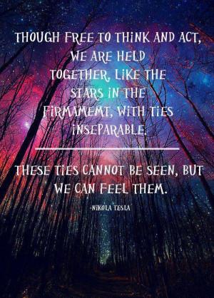 Nikola Tesla quote. You can feel it.