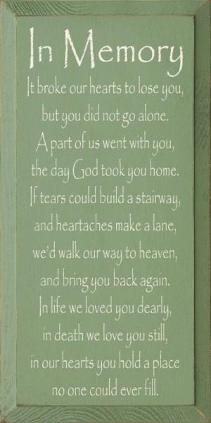 Loving Memory Quotes Death. QuotesGram