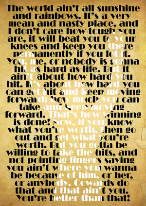 Rocky Balboa Quote Poster Digital Art