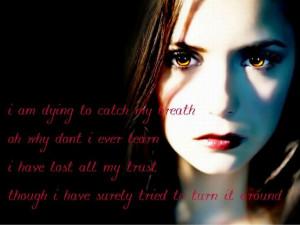 TVD Elena Quote Wallpaper