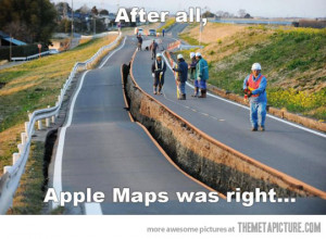 Funny photos funny broken road earthquake
