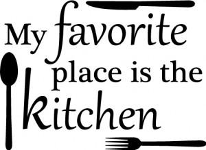 Favorite Place Kitchen Mom Fun Decor vinyl wall decal quote sticker ...