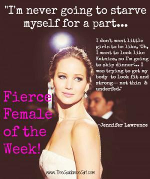 Fierce Female of the Week: Jennifer Lawrence