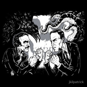 Cthulhu Edgar Allan Poe Funny Lovecraft The Raven Books