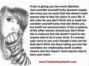 Don't take a woman for granted..