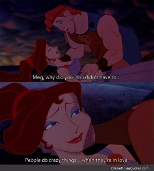 Sweet love quote from Disney's animated movie Hercules.
