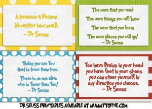 Printable Dr. Seuss Sayings | There are four different ones which I ...