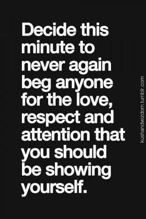 No more begging!
