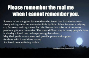 ... Dementia Alzheimers, Alzheimers Creed, Alzheimers Awareness, Quotes