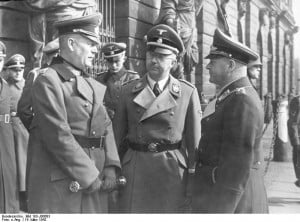 Wilhelm Keitel, Heinrich Himmler, and Erhard Milch awaiting before the ...