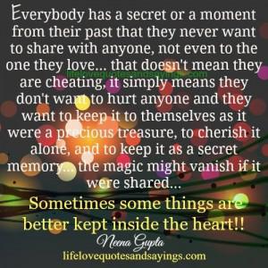 Everybody Has A Secret.