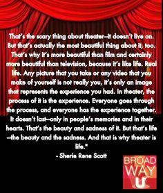 Theatre inspiration More