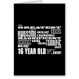 Cool Fun 16th Birthday Party Greatest 16 Year Old Stationery Note Card