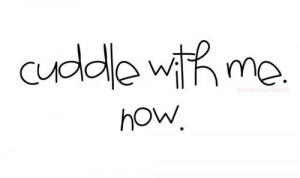 Description: Cuddle with me. Now. | via Tumblr