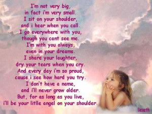 ... Very Small. I'll Be Your Little Angel On Your Shoulder - Angel Quote