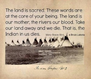 The land is sacred.....