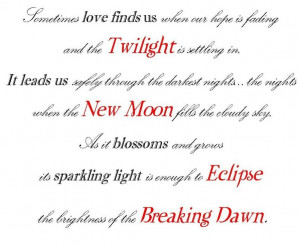 Twilight Series Book titles quote