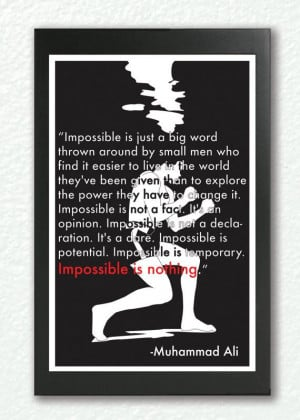 ... quote, motivational wall art - 'Impossible is nothing