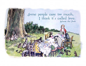 Winnie The Pooh and Friends -Some People Care Too Much - Vintage ...