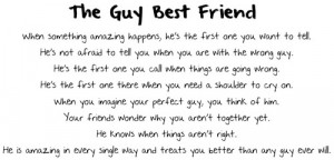 The Guy Best Friend - Friendship Quote