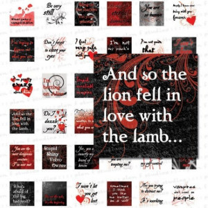 TWILIGHT SAGA QUOTES 1 Inch Squares - Printable Digital Collage Art ...