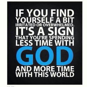 spend more time with God!