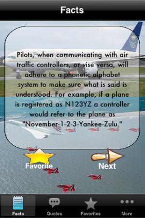 Aviation facts! & quotes! Entertainment iPhone & iPod Touch App Review ...
