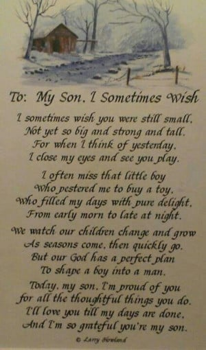 To my three sons.....