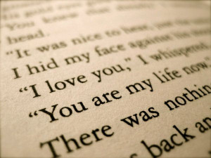 book quotes... i think this is from twilight... haha