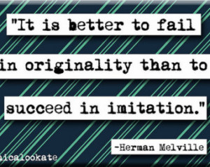 Herman Melville Originality Quote M agnet or Pocket Mirror (no.139 ...