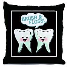 Dental Quotes Funny Throw Pillows