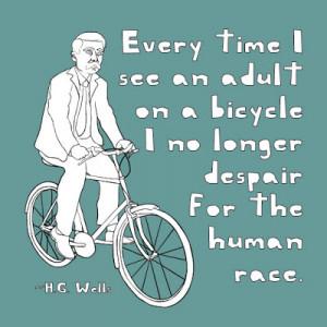 HG Wells bike quote