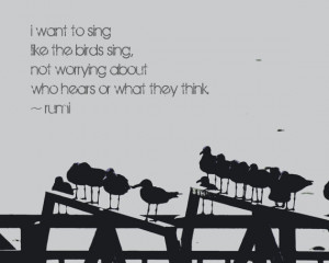 Inspirational Quote Photography - Rumi Quote, Seagulls, Word Art ...
