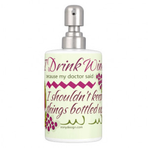 Drink Wine Funny Quote Bath Set