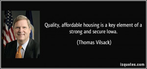 Quality, affordable housing is a key element of a strong and secure ...
