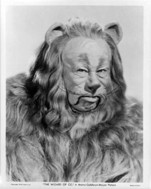 The Wizard of Oz A Rare Photo Of The Cowardly Lion