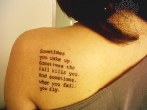 Tumblr Literary Tattoo On Back Shoulder