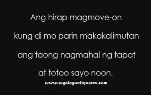 Tagalog Quote for Move On